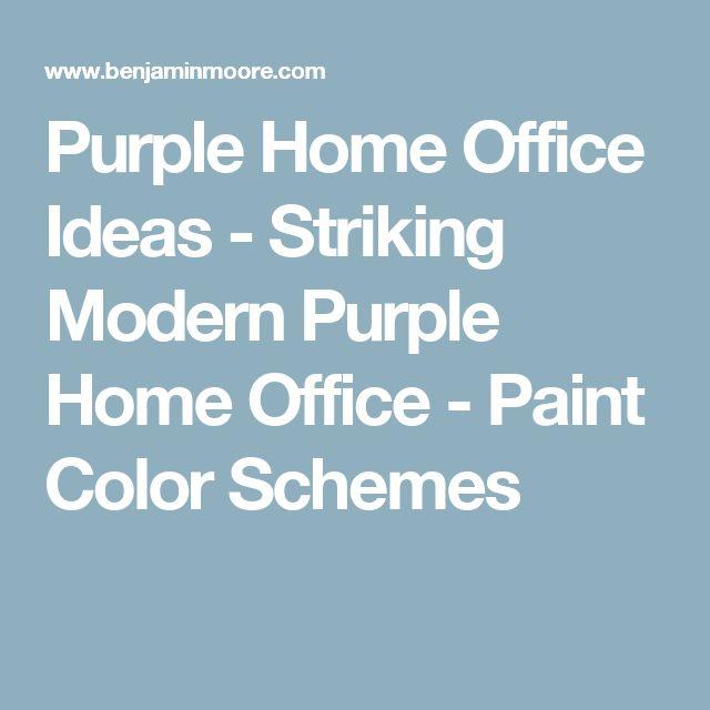 Purple Home Office Ideas - Striking Modern Purple Home Office - Paint Color Schemes