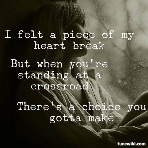 I felt a piece of my heart break -- #LyricArt for Starts With Goodbye by Carrie Underwood