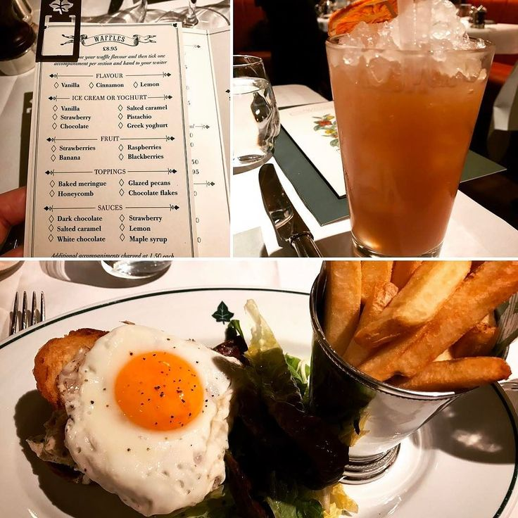 Brunch @ivysohobrass with some casual people watching? Don't mind if I do!  I managed to resist the very tempting build-it-yourself waffle menu and opted for the delicious Truffle Chicken Sandwich with Chips and a Fried Egg. I stayed off the booze and opted for a Peach and Elderflower Iced Tea - drank it with my pinky in the air it deserved it. All bases are covered on the brunch menu good luck with choosing just one dish... . . . . #taste #london #food #foodie #londonfood #soho #breakfast…