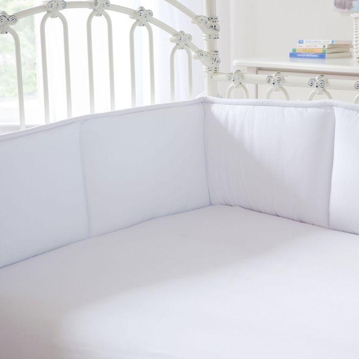 Solid White Crib Bumper   Carousel Designs