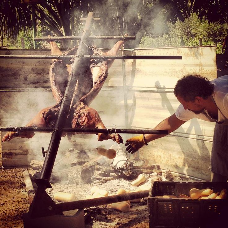 how to cook a wild hog whole