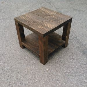"Check out this project on RYOBI Nation - I needed a coffee table, but everything I saw in the store was too expensive, cheaply built, or the wrong style for our home.  I have 3 kids and needed something durable.  I was given rough cut 2""x12""x4's that were rescued from an old building.  I had a bunch of scrap from shipping containers to use as braces.  I used a 4x4 post for the legs.  I'm marking this intermediate because the rough cut lumber reclaimed lumber was slightly warped.  It took…"