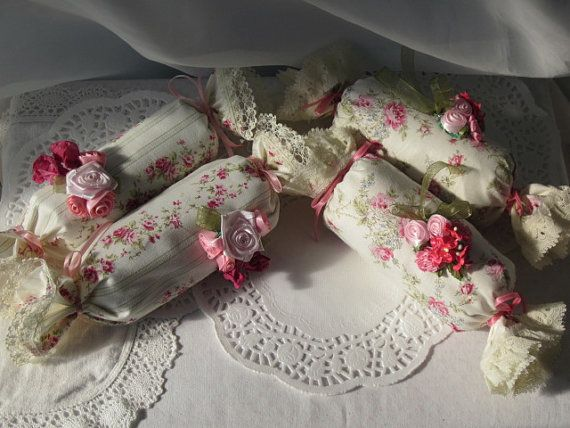 2 Drawer SACHETS Pink/Creams Shabby Chic Sweet by RoseChicFriends, $13.99