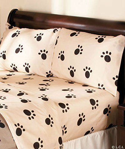 Dog Paw Print Sheet Set or Pillow Sham & Blanket Ensemble, (Twin Sheet Set) Dog Paw http://www.amazon.com/dp/B00MI0MUVM/ref=cm_sw_r_pi_dp_V3yKub1MDN423