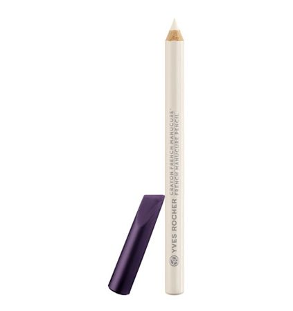 Yves Rocher French Manicure Pencil - http://47beauty.com/nails/index.php/2017/01/30/yves-rocher-french-manicure-pencil/ Yves Rocher French Manicure Pencil  This practical, easy-to-use pencil redefines and whitens the underside of your nail tip. In the blink of an eye, its soft, fine and pointed tip underlines and brightens, for a clean and natural French manicure effect. So clever too, with its angled cap that can be used to clean underneath nails and push back cuticles. 0.04