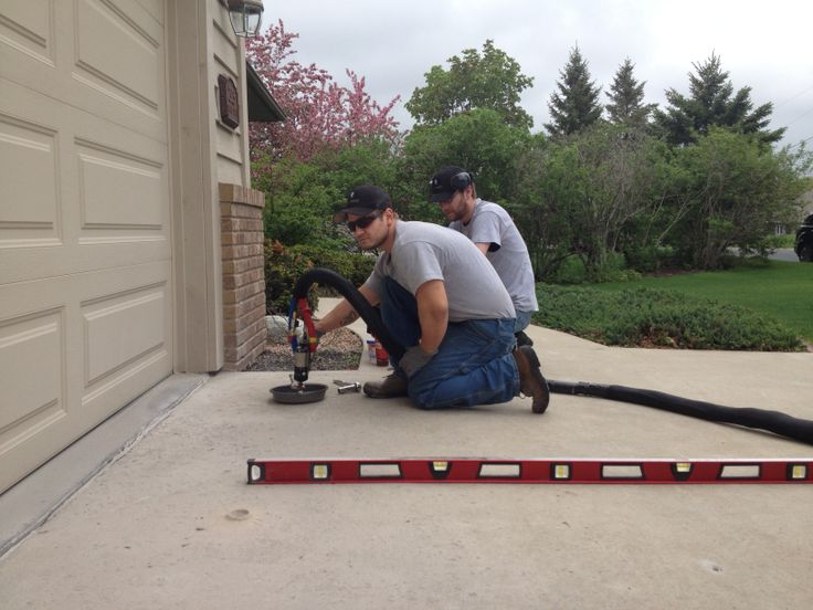 Best 25 cost of concrete driveway ideas on pinterest concrete lifting and leveling a sunken concrete driveway with polyurethane foam injections fill voids stabilize solutioingenieria Images