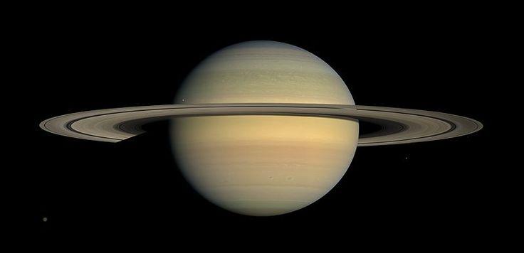 2015年5月24日・探査機カッシーニが撮影した土星と6つの衛星(タイタン、ヤヌス、ミマス、パンドラ、エピメテウス、エンケラドゥス)