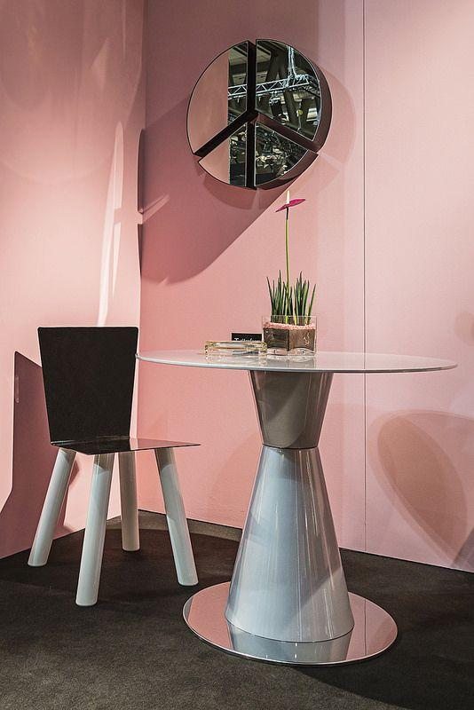 #fiocco chair and #pace mirror, #design Garilab by Piter Perbellini, #arbat table, #design Marco Piva for #altreforme grand altreforme hotel #stand @iSaloni 2015  #grandaltreformehotel #altreformegoesfashion #myminisalvador #designweek#interior #home #decor #homedecor #furniture with #woweffect #aluminium