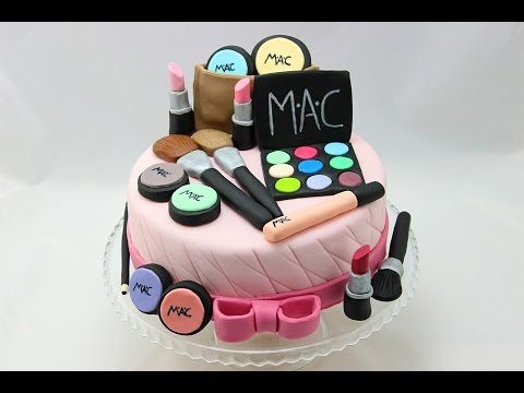 Make Up Cake / Make Up-Torte/ Make Up-Kuchen (how to make a make up cake) - YouTube English sub titles.
