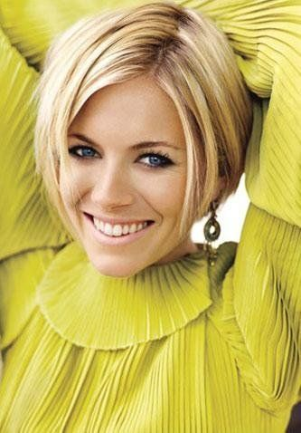 Sienna Miller... love her hair... and that top is to dye for!
