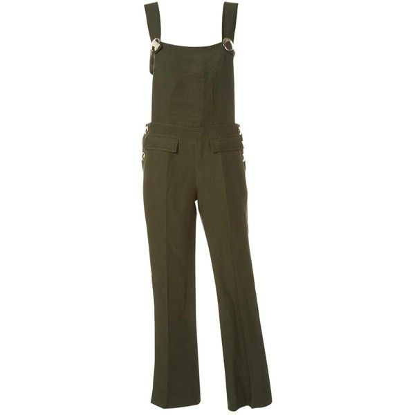 Pre-owned Emilio Pucci Linen Jumpsuit ($479) ❤ liked on Polyvore featuring jumpsuits, green, women clothing jumpsuits, emilio pucci jumpsuit, brown jumpsuit, stretch jumpsuit, jump suit and linen jumpsuits