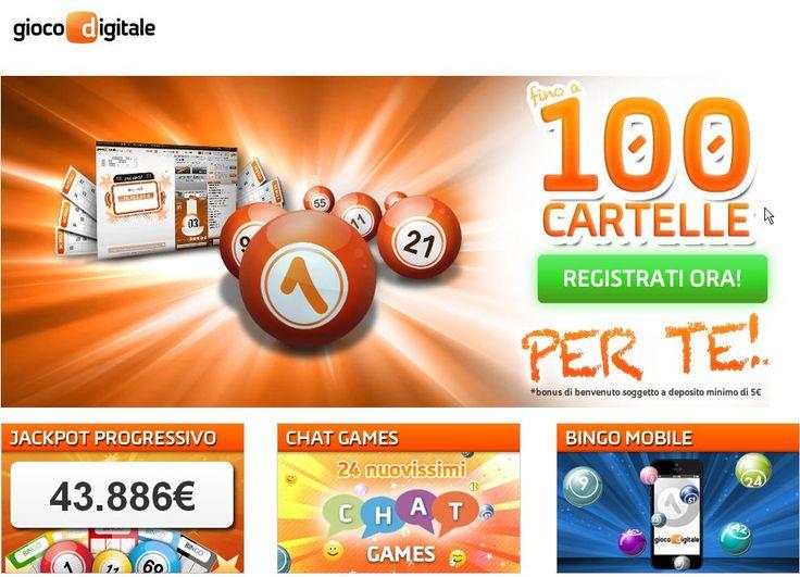 Registrati ➫ http://casino-on-line-sicuri.com/gd/giocodigitale.html Gioca al BINGO su Gioco Digitale Ricevi Fino a 100 CarTeLLe Per tE ! Per Questa OFFERTA Iscriviti tramite il nostro sito cliccando il link di giocodigitale Entra su ➫ http://casino-on-line-sicuri.com/gd/giocodigitale.html Fai Bingoooooooooooooo Ora... Registrandoti su GD puoi usufruire di tutti i Giochi inclusi tra cui ➫ Bingo. Poker. Casinò-Slots. Gratta e Vinci. Scopa. Scommesse Sportive e tanti altri Giochi Arcade.