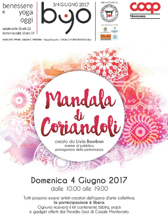 #mandala di #coriandoli a #CasaleMonferrato !! #BYO