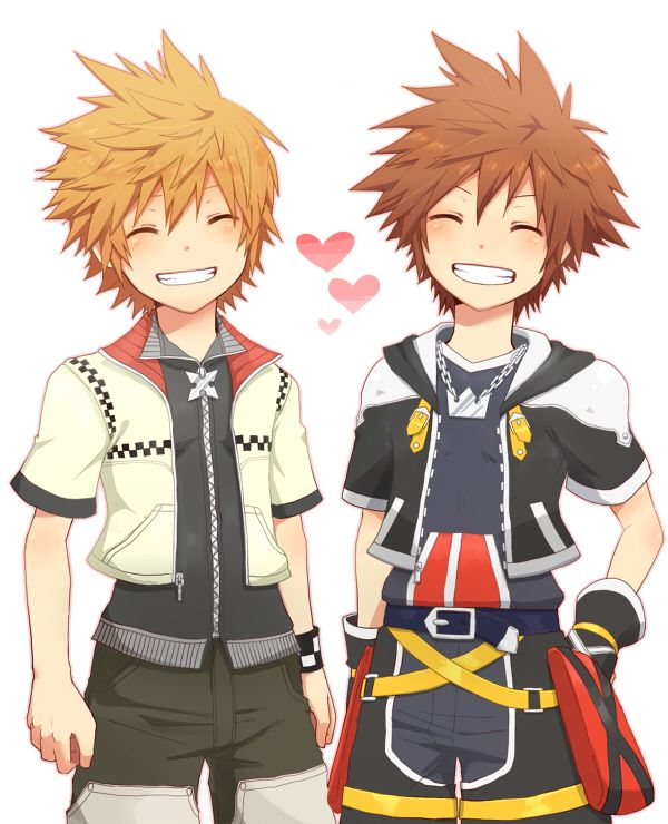 The yaoi bond between Roxas & Sora is adorable even if Roxas is only Sora's nobody.