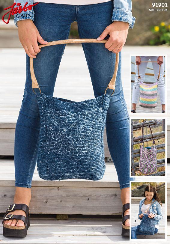 Crochet handbag.