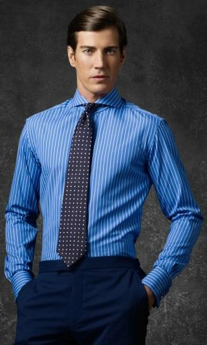 Mens Cutaway Collar Dress Shirts