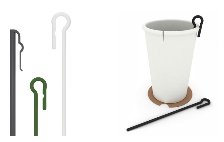 Tea stick designed with clip on top.  Also made with PLA (Corn Starch plastic)  Safe and eco-friendly.