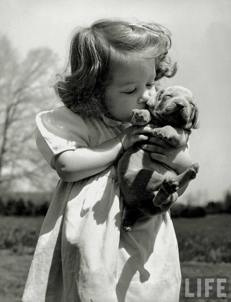 Puppy love. Yeah, it's the cutest thing you've ever seen. LIFE Magazine Archives.: Little Girls, Best Friends, Bestfriends, Pet, Old Pictures, Puppies Love, Sweet Kiss, Old Photos, Animal