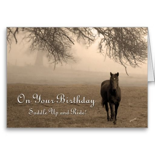 Happy Birthday Horse Images Happy Birthday Horse Standard Business Greeting Card From Zazzle