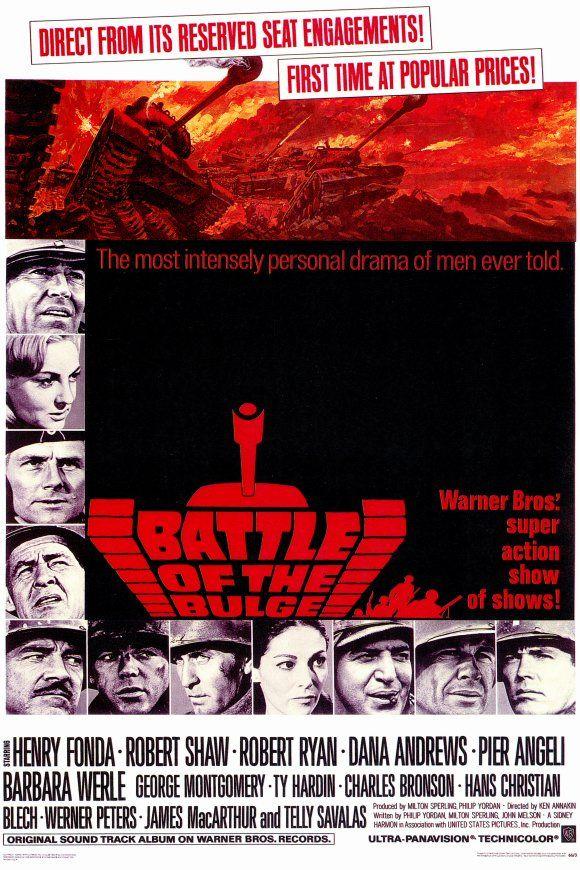 Battle of the Bulge (1965) starring Henry Fonda, Robert Shaw and Robert Ryan.