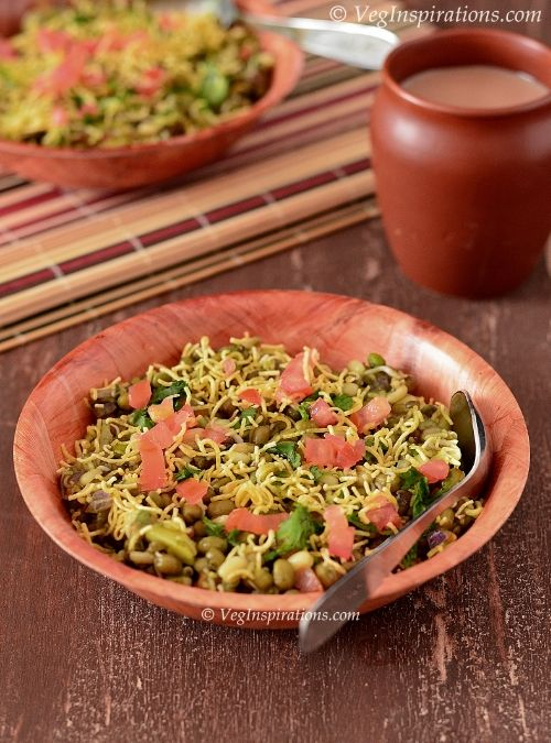 Sprouted Mung Bhel ~ Moong Bhel Puri ~ Sprouted Mung Bean Salad | Veg Inspirations
