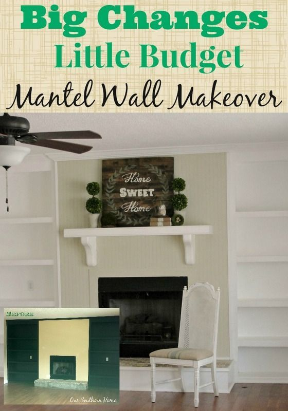 Our Southern Home | Budget Cottage Mantel Wall Makeover | http://www.oursouthernhomesc.com