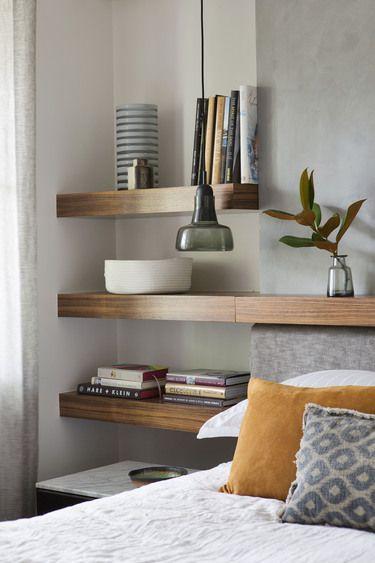 brown design group bedside shelving idea