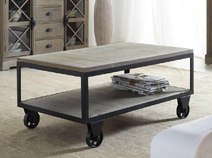 Mesa centro tipo industrial buscar con google muebles - Mesa de centro con puff ...