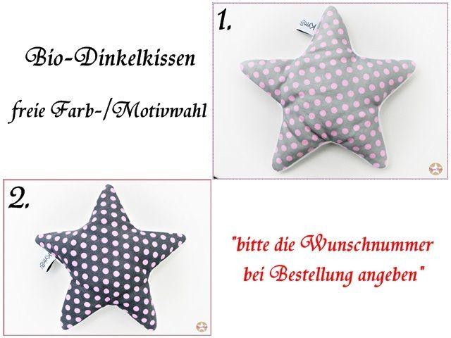 ♥   Baby Bio-Dinkelkissen / Wärmekissen Stern   ♥ von ☆ KymBoo ☆ auf DaWanda.com