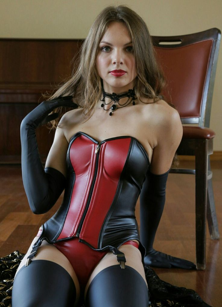 In leather corsets women