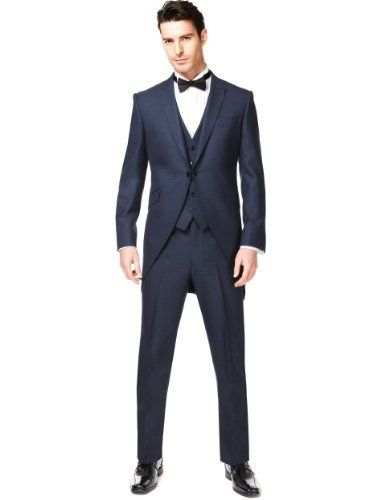 Autograph 2 Button Morning Suit with Wool - Marks  Spencer