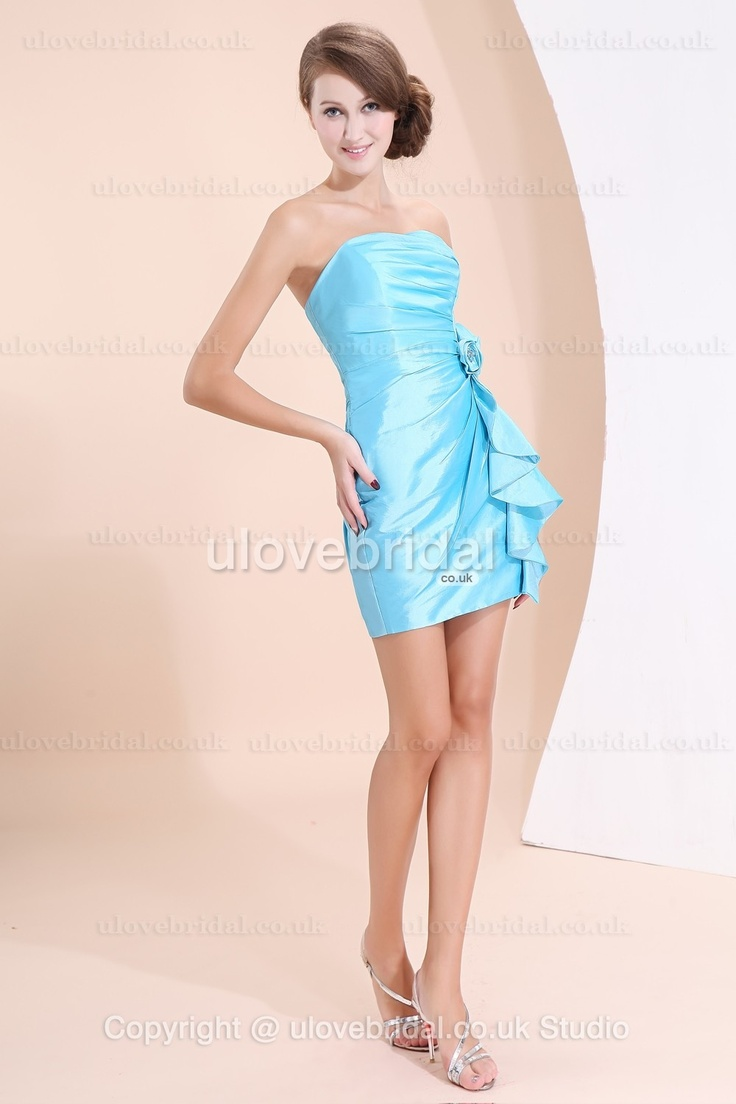 Mini Blue Petite #Bridesmaid #Gown