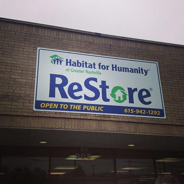 Habitat for Humanity Restore Store Please go here instead of homedepot or lowe's . They need your business and its a cool store too.