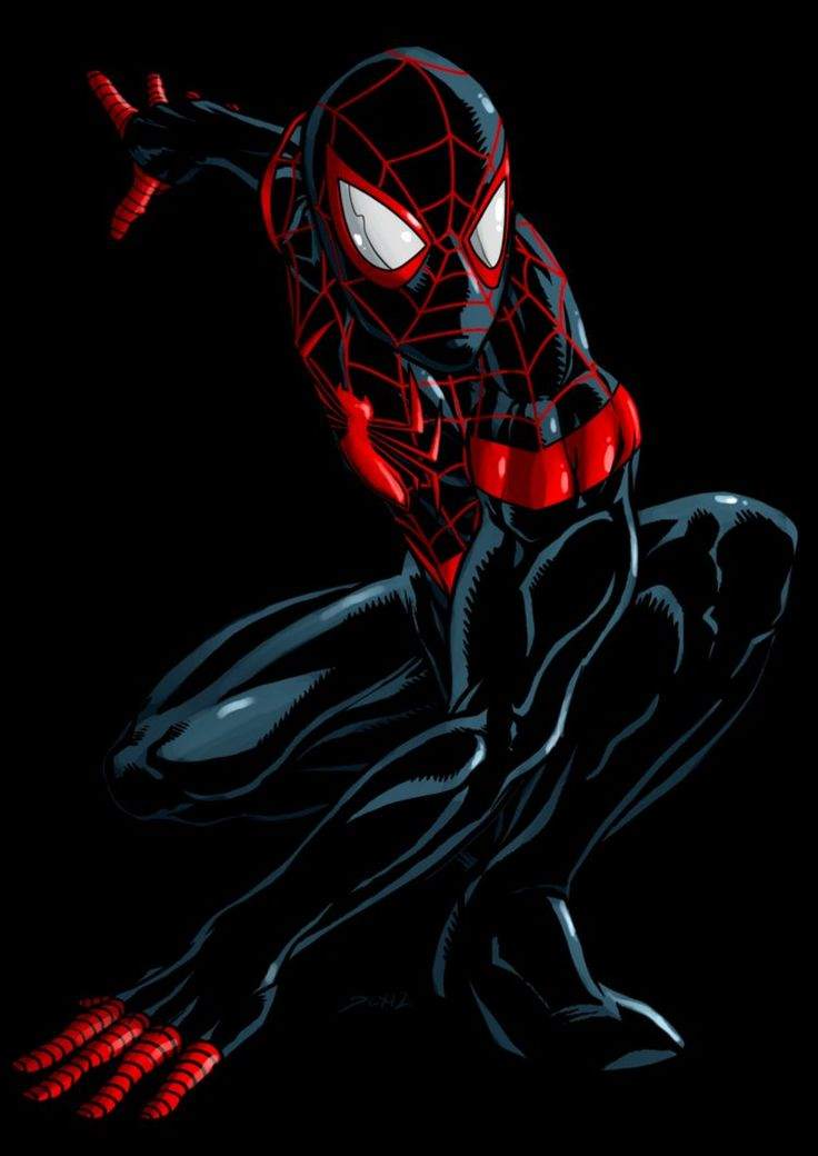 Mile Morales Ultimate Spider-Man by =dlxcsccomicartist