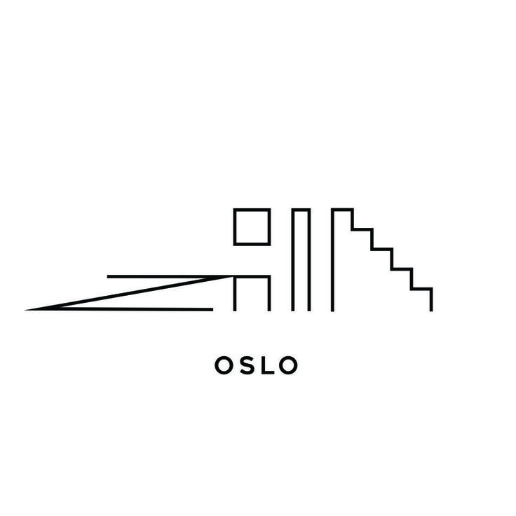 Logo design by Bull-Stark  Oslo is beginning to become a world brand in itself. The logo design concept for Conference destination Oslo is a architectural design line of the Oslo skyline, With some of the signature buildings in black and white.