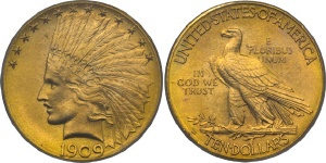 Indian Head Eagle $10 US Gold Coin Values