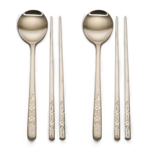 Blossom pattern Brassware Spoon and chopsticks / $126.00