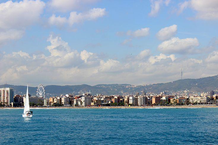 Barcelona from the sea - Catalonia.
