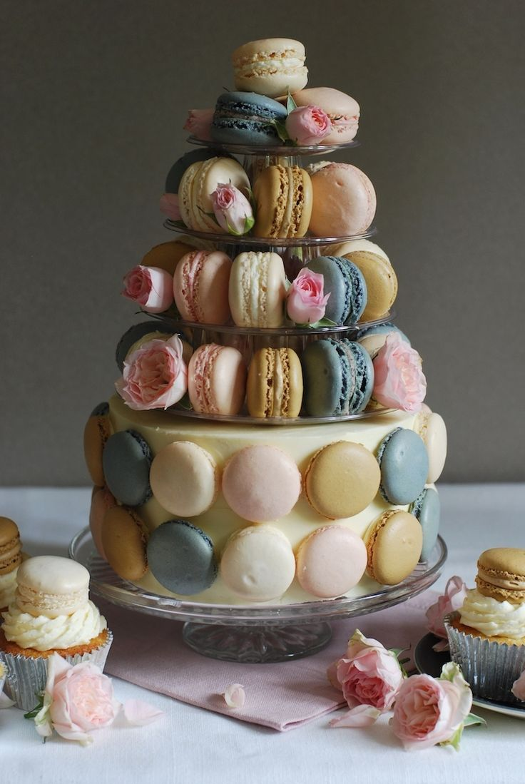 50th Birthday Macaron Cake - Afternoon Crumbs