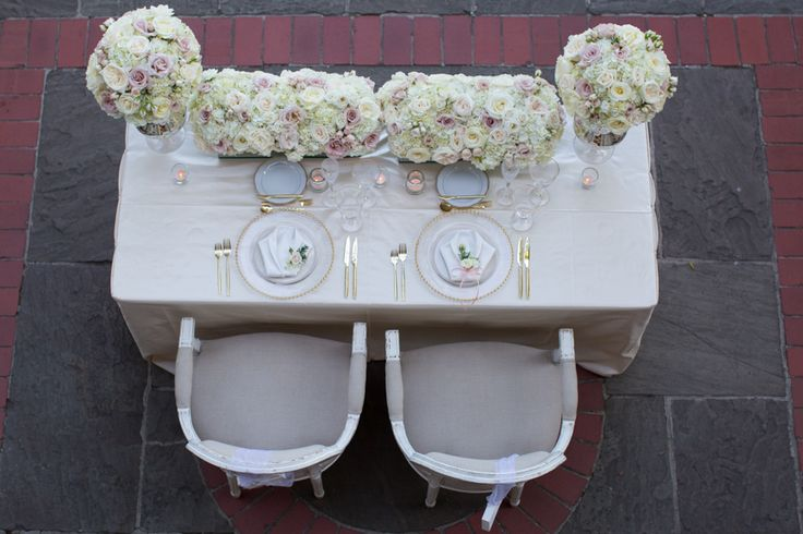 Graydon Hall Manor bride and groom table, love the soft flower colours