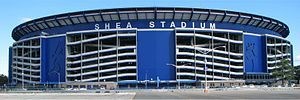 Shea Stadium - A lot of concrete.  Loved the Apple in center field, which I'm glad they took to Citi Field when they moved.