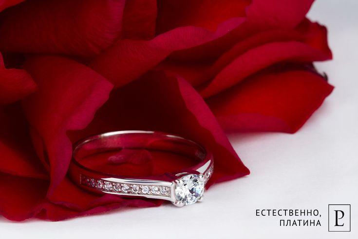 """Идеальное предложение с платиновым кольцом. И она оветит: """"Да!""""   #ring #brilliant #jewelry #jewellery #wedding  #platinum #PlatinumLab #помолвочноекольцо #кольцо #rings #forher #present #cute #помолвка #кольцодляпредложения #weddingring"""