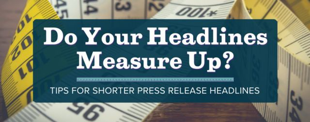 how to write a great press release headline
