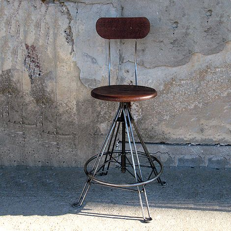 Industrial Swivel Stool (Click For Video)