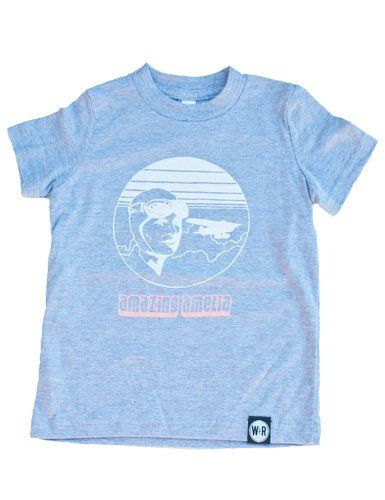 Amelia Earhart T-shirt - American Apparel's Fine Jersey Kids T- Shirt :: Enjoy everything you love about the fit, feel and durability of a vintage fabric, in a brand new version. 100 % Cotton construction. Screen printed ::