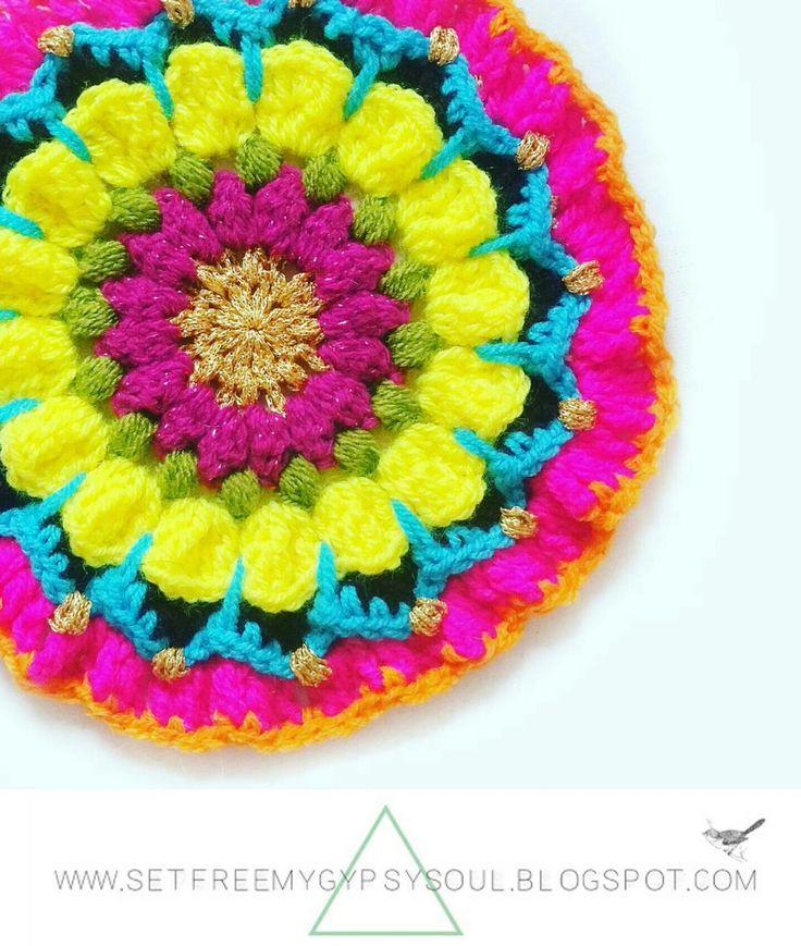 Set Free My Gypsy Soul | a Bohemian Craft and Crochet blog : Pretty Pretty Petals Crochet Mandala | Free Crochet Pattern