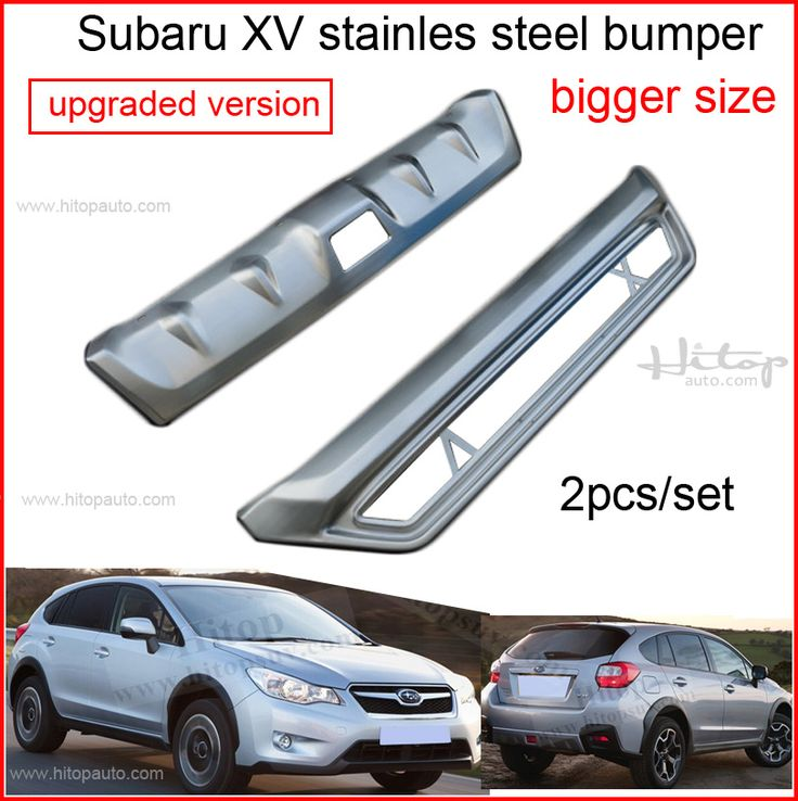 for Subaru XV crosstrek skid plate bumper protector/guard,front+rear,2pcs,brushed stainless steel, 2013 2014 2015,free shipping #Affiliate