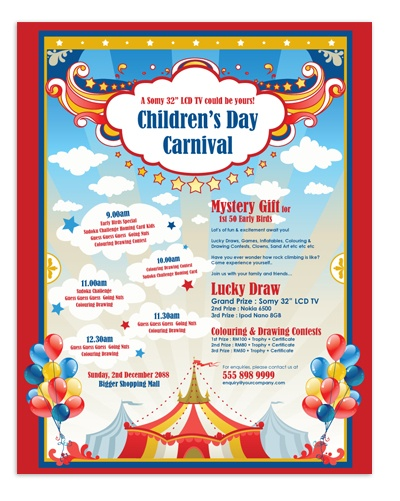 Microsoft Word Carnival Template Poster Layout Templates - invitation templates for microsoft word
