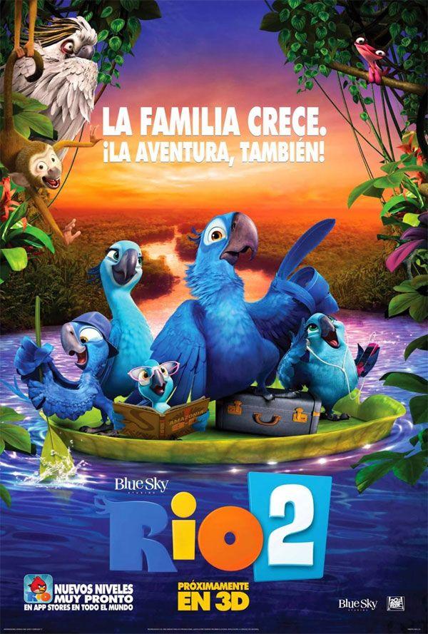 """Família Blu é destaque em novo cartaz do filme """"Rio 2″ http://cinemabh.com/imagens/familia-blu-e-destaque-em-novo-cartaz-do-filme-rio-2"""