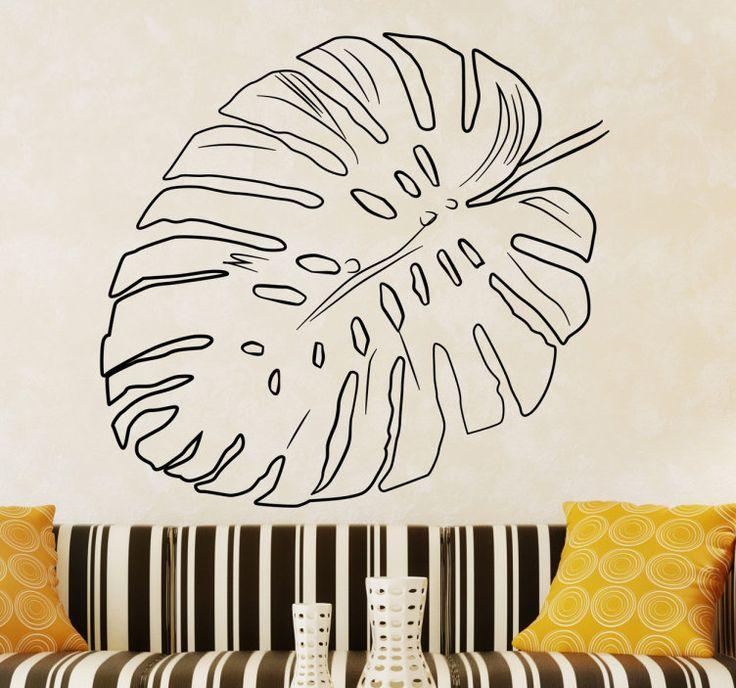 Muursticker blad  Muursticker ontworpen met een blad van een plant met verschillende gaatjes en uitsteeksels mooi voor wat extra groen in huis. Wilt u wat meer planten in huis maar is het steeds water geven van deze planten zo veel werk? Dan bieden wij de perfecte oplossing voor u met deze mooie wanddecoratie. U kunt hem natuurlijk ook in andere kleuren dan groen bestellen zodat deze vinyl sticker perfect bij uw huis past mooi voor in de woonkamer slaapkamer of zelfs in de keuken.De sticker…